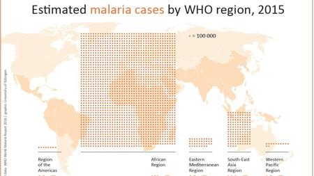 The World Health Organization reports that some 214 million people became infected with malaria in the year 2015 alone